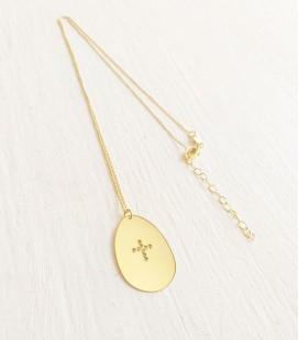 cadena medalla cruz