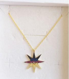 Cadena estrella color