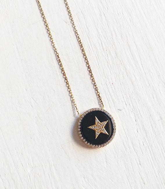 Estrella esmaltada negra