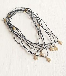 Collar rosario nudos