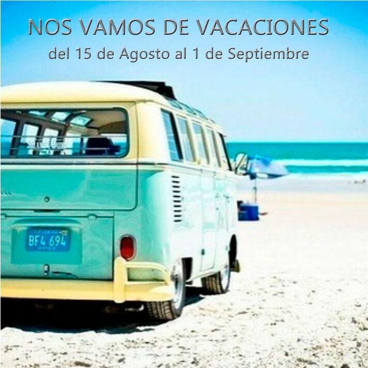 Vacaciones hasta el 1 de Septiembre