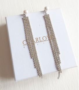 Pendientes perla cristal