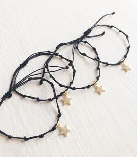 Pulseras nudo rosario plata